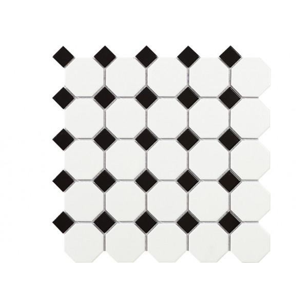 Mosaico enmallado TECH OCTOGON White Matt 30,5x30,5cm
