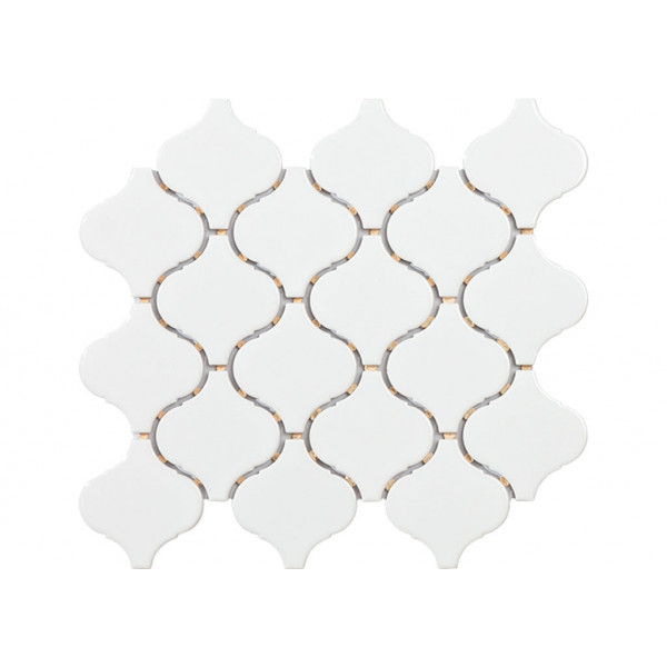 Mosaico enmallado TECH FLAME White Gloss 30,5x28,5cm