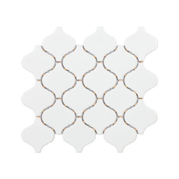 Mosaico enmallado TECH FLAME White Gloss 30,5x28,5cm