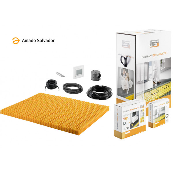 Sistema de calefacción por suelo radiante compacto Ditra Heat Schluter para 5.6 m2