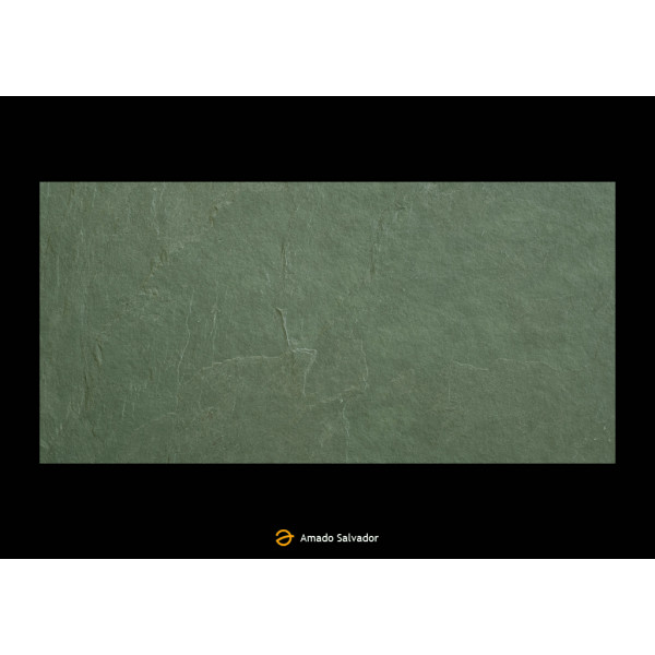 Pizarra natural Verde Oscura 30x60x1 Calibrada Jungle Green