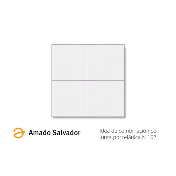 Revestimiento blanco satinado 20x20 cm liso con precorte 10x10cm