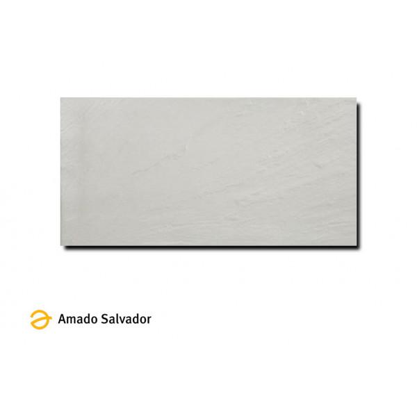 Pavimento pizarra blanco 30x60 cm porcelánico