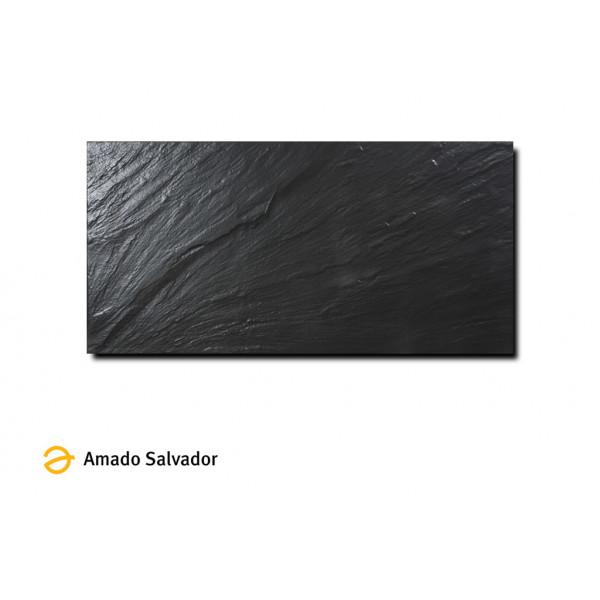 Pavimento pizarra negra 30x60 cm porcelánico