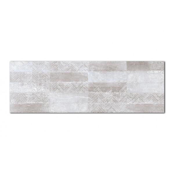 Revestimiento GROUND decorado Guess Grey 30x90cm pasta blanca Keramik Style