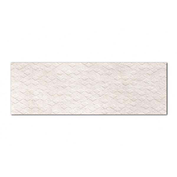 Revestimiento CREATIVE RHOMB Pearl 30x90cm pasta blanca Keramik Style
