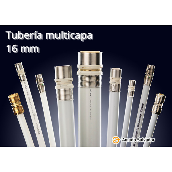 Multicapa tubería 16x2 Aluminio con Polietileno Frankische Germany (barra 5 metros)