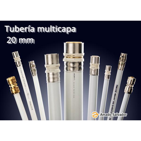 Multicapa tubería 20x2 Aluminio con Polietileno Frankische Germany (rollo de 100 ml)