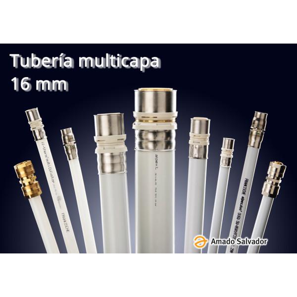 Multicapa tubería 16x2 Aluminio con Polietileno Frankische Germany (rollo 100 metros)