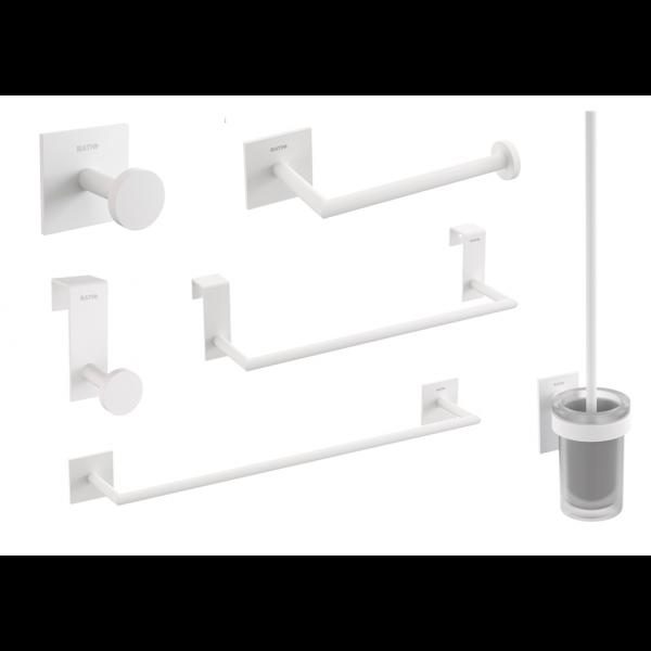 Accesorios de baño Blanco Mate Stick de Bath+ (Adhesivos)