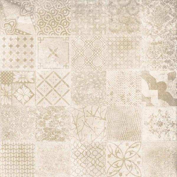 Pavimento ALHAMAR Decorative blanco C3 33x33cm gres extrusionado pasta blanca EXAGRES