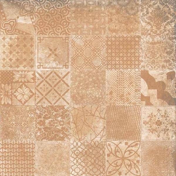 Pavimento ALHAMAR Decorative C3 salmon 33x33cm gres extrusionado pasta blanca