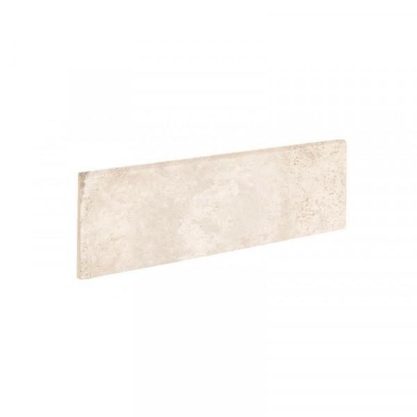 Rodapie ALHAMAR Blanco 9x33cm gres extrusionado pasta blanca EXAGRES