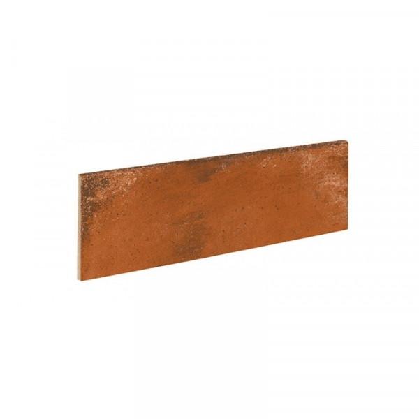 Rodapie ALHAMAR Rojo 9x33cm gres extrusionado pasta blanca EXAGRES