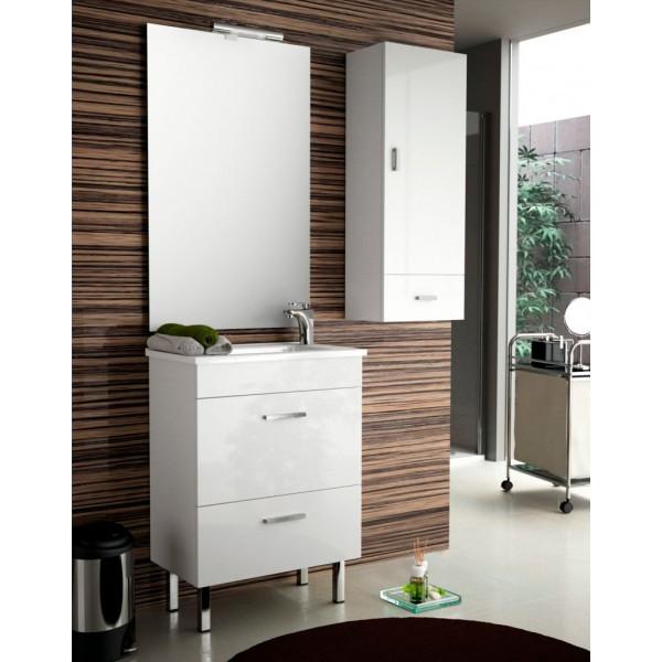 Conjunto ALMAGRO 600 (mueble + lavabo porcelana) BLANCO COD. 22286 SALGAR