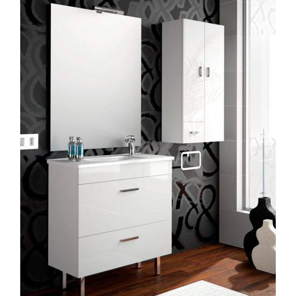 Conjunto ALMAGRO 800 (mueble + lavabo porcelana) BLANCO COD. 22288 SALGAR