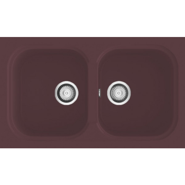 Fregadero Amatista sobre encimera brown 650x340mm