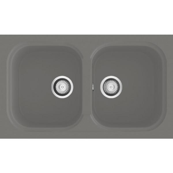 Fregadero Amatista sobre encimera brillo 650x340mm