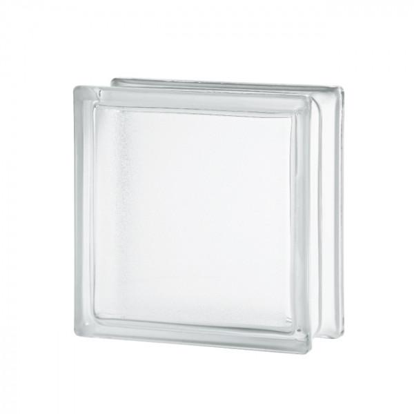 Bloque de Vidrio artic mate liso 19x19x8cm incoloro