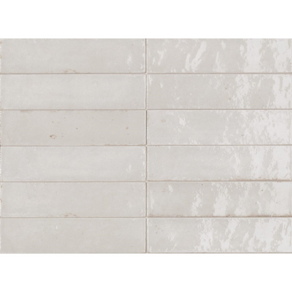 Revestimiento LUME WHITE 6X24cm porcelanico brillo Marazzi Crogiolo
