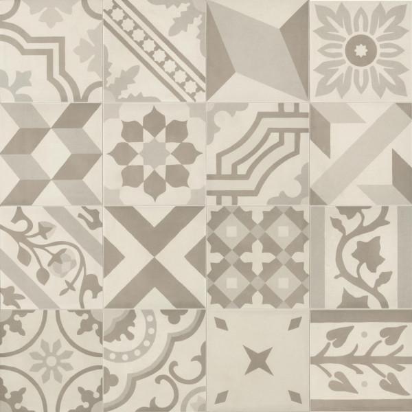 Pavimento D SEGNI BLEND DECORO MIX 20x20cm porcelanico mate Marazzi Crogiolo