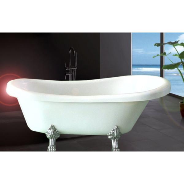 Bañera exenta acrílica reforzada EPOCA 170x80 cm blanco brillo