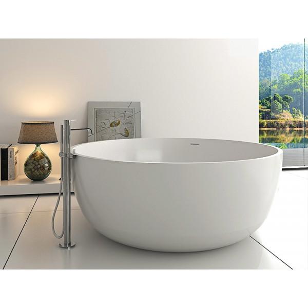 Bañera exenta circular Solid Surface DREAM Diam.150cm cm blanco mate Italian Design