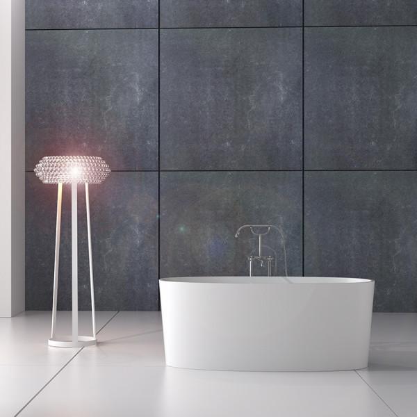Bañera exenta Solid Surface HIDRA 155x80 cm blanco mate Italian Design