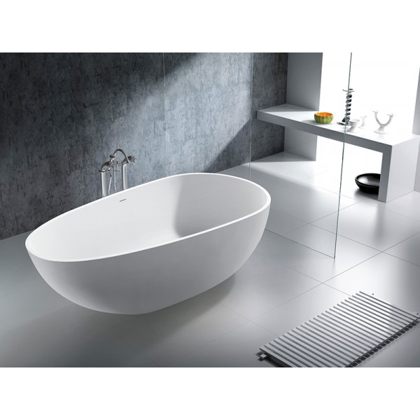 Bañera exenta Solid Surface OV blanco mate 185x85cm Italian Design