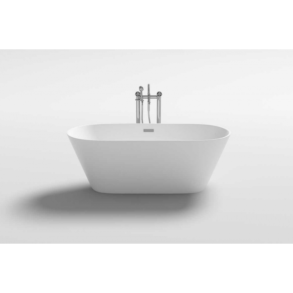 Bañera exenta acrílica SEA 170x80 cm blanco brillo Italian Design