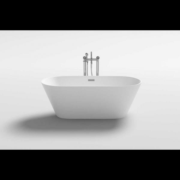 Bañera exenta acrílica SEA 150x75 cm blanco brillo Italian Design