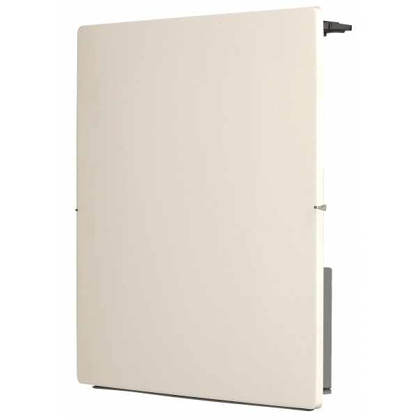 Radiador eléctrico de diseño Avant Touch cuadrado 1000w blanco silicio 500x500x105 mm