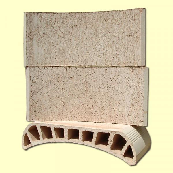 Bovedilla ceramica curva de 52x25x13,5 acabado corcho raspado