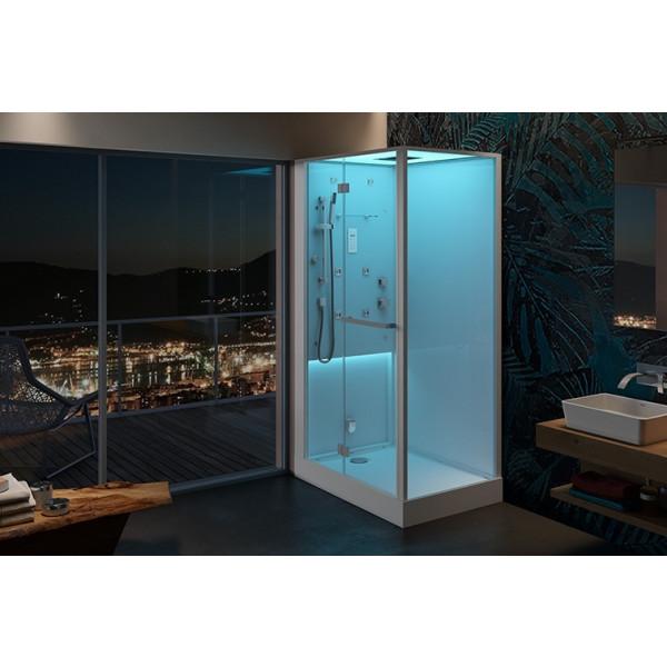 BALI cabina ducha multifuncion con Hamman 120x80x220CM con Cromoterapia, Hidroterapia y Sistema Audio Ref. BAL12230120 JACUZZI
