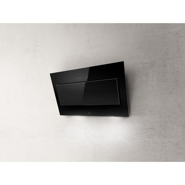 Campana extractora a pared VERTIGO BL/F/90 cm negra Elica