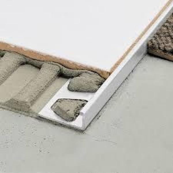 SCHIENE-BASIC-AE Cantonera para azulejos aluminio anodizado natural altura 8 mm AEBS 80