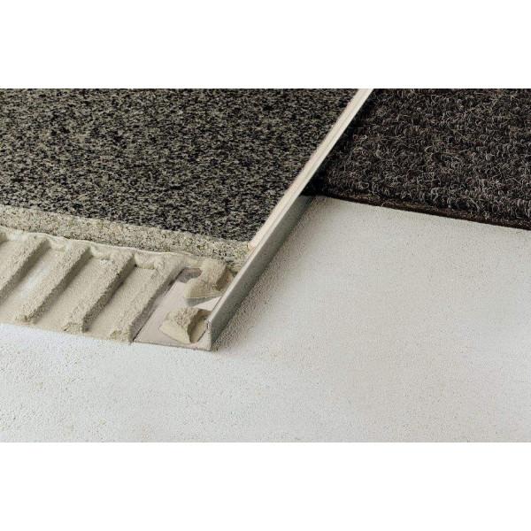 SCHIENE-E Cantonera para azulejos Acero inoxidable V2A altura 8 mm E80