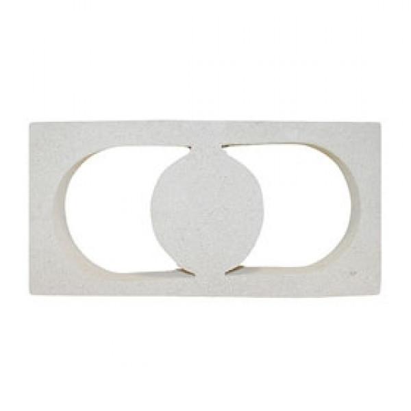 Celosía SOL 6x20x40cm Blanco