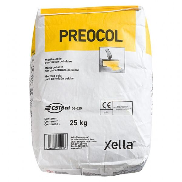 Mortero Cemento Cola especial hormigón celular saco 25KG Preocol YTONG