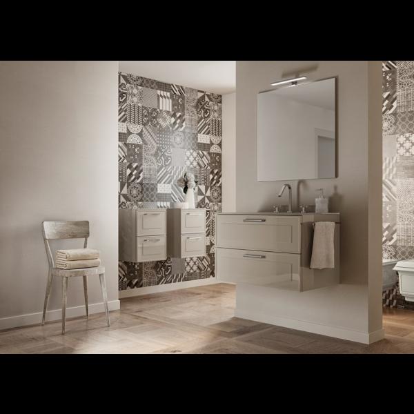 Mueble de baño suspendido Dressy 105cm con encimera de cristal by Blob de Idea Group