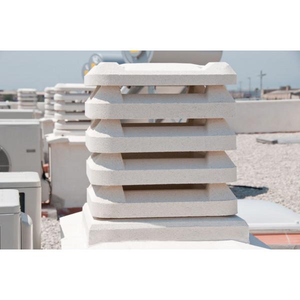 Conjunto aspirador SAMANTA 50x50x54cm blanco cuadrado prensado hidrofugado