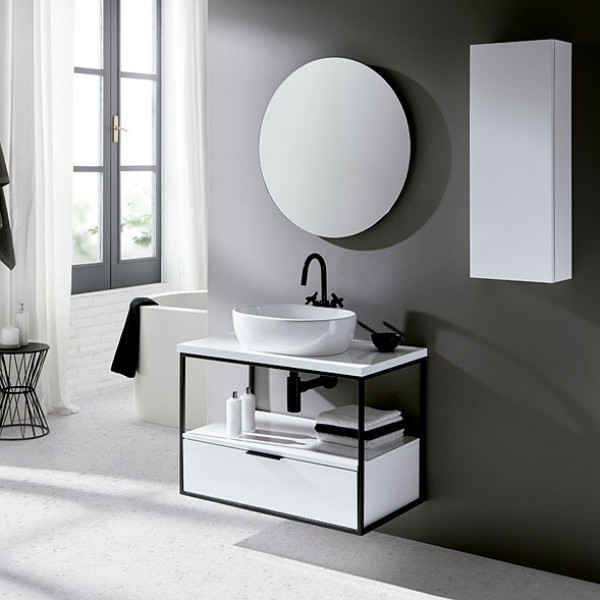 Mueble de baño suspendido ESTRUCTURA 100 cm acabado blanco
