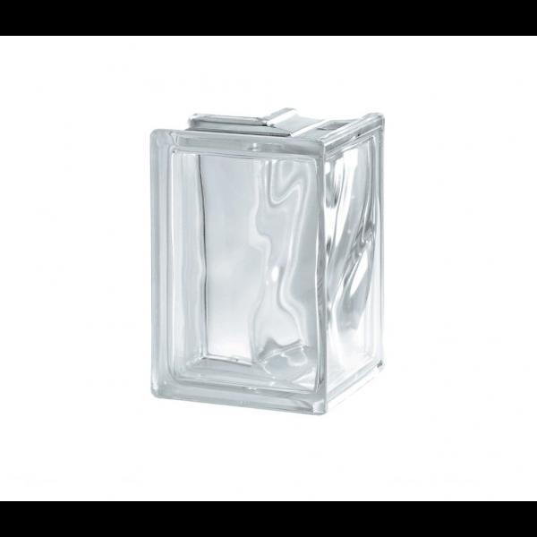 Bloque de Vidrio corner 90ºC Wave  19x13.2x8cm liso incoloro