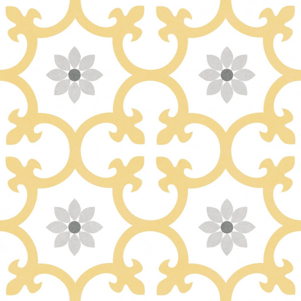 Pavimento DALIA Dandelion 25x25cm hidráulico antihielo pasta blanca porcelánico