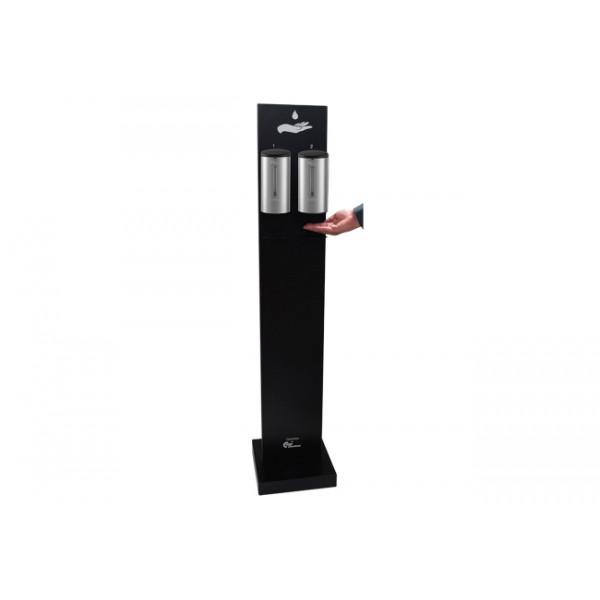 Soporte suelo Premium Duo con dispensador automatico de gel hidroalcoholico