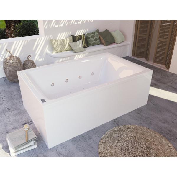 Bañera acrílica Duo confort 190x120 cm con hidromasaje Confort