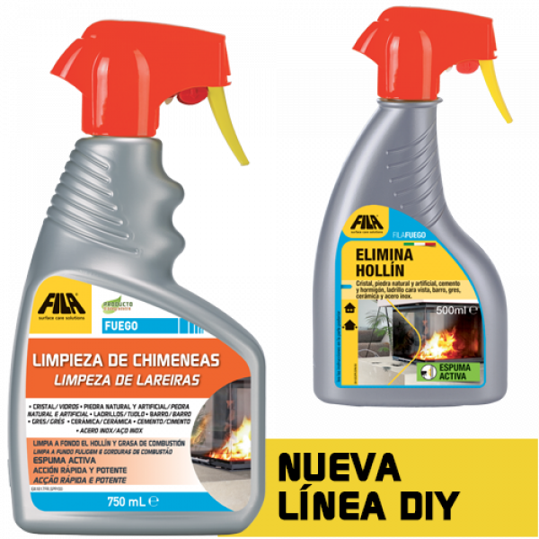 FUEGO detergente elimina hollín 750ML FILA
