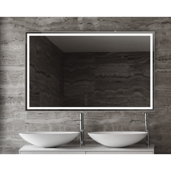Espejo de baño Emanuele 100x80cm con iluminación by Marzzo