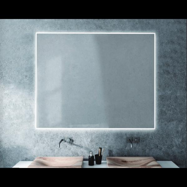 Espejo de baño Zen 80x80cm con iluminación by Marzzo