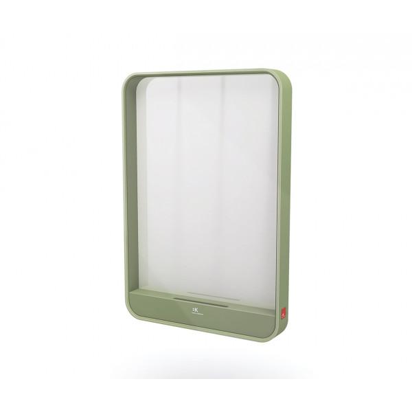 Espejo vertical Verde con soporte smartphone MOOD B&K